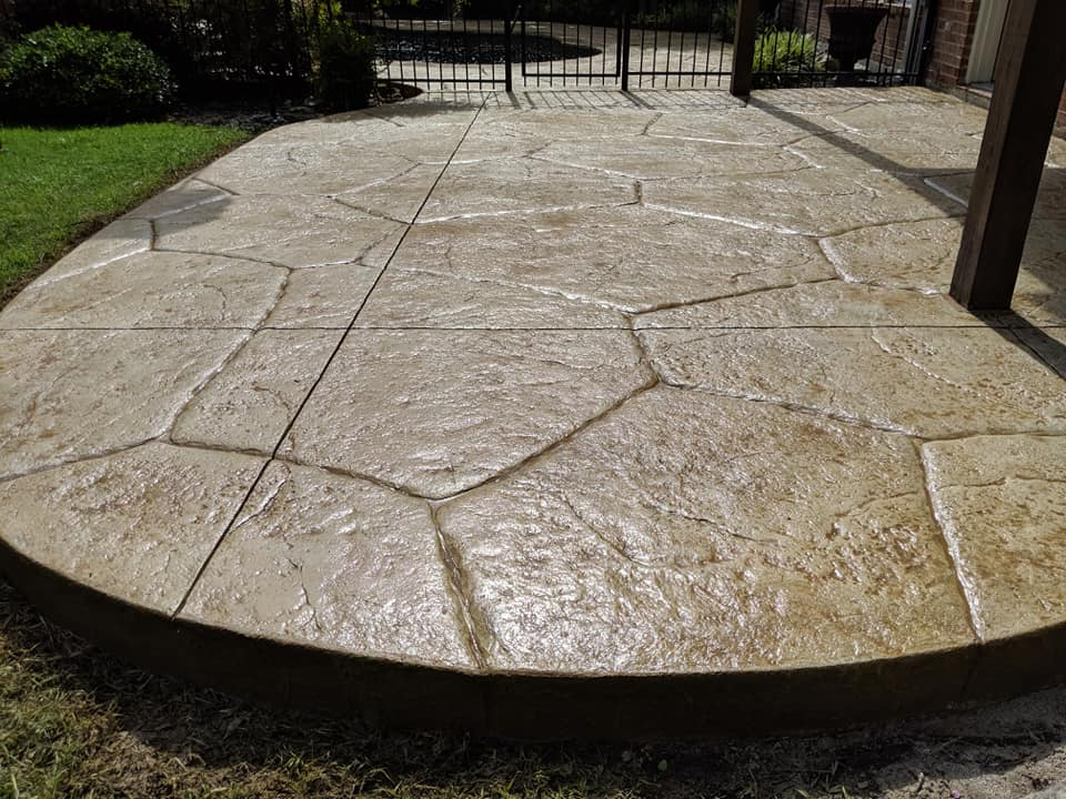 The Perfect Stamped-Concrete Patio for Your Backyard